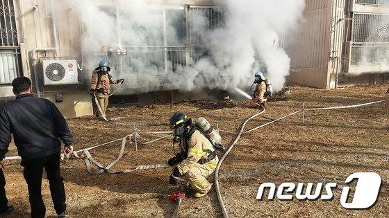 [사진]안산 아파트 지하 주차장 화재