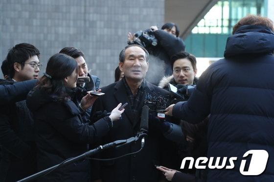 [사진]박승춘 전 국가보훈처장 검찰소환