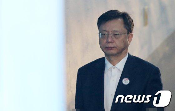 [사진]우병우, 법원 출석