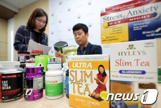 [사진]해외직구 다이어트 기능 등 제품에서 유해물질 발견