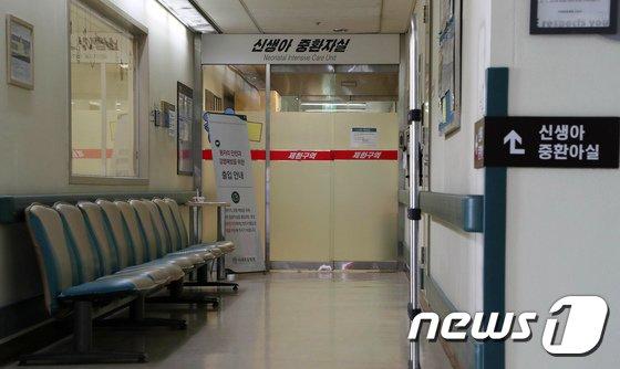 서울 양천구 이대목동병원 신생아 중환자실에 적막감이 감돌고 있다. 2017.12.17/뉴스1 © News1 박지혜 기자