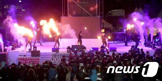[사진]'문화올림픽 열기 타올라라'