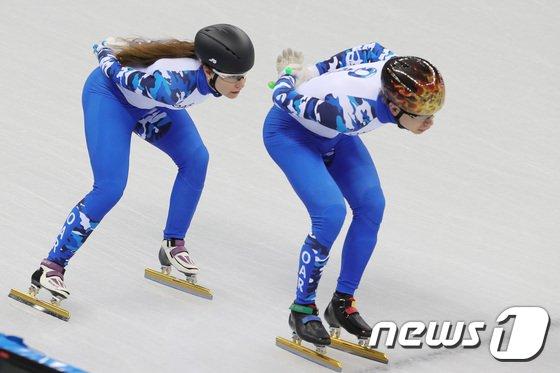 [사진]훈련하는 러시아 쇼트트랙 선수들