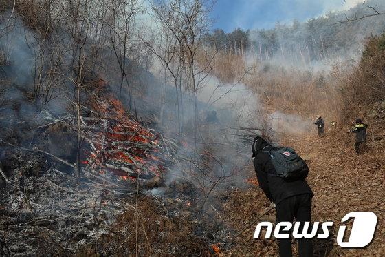 [사진]꺼지지 않는 삼척 산불