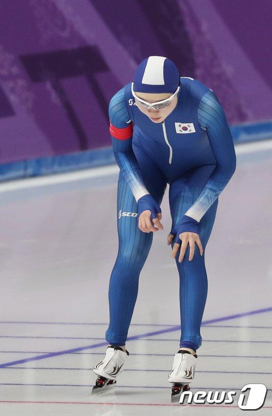 [사진]女 1500m 경기 마친 노선영
