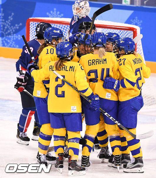 남북 단일팀, 스웨덴에 0-8 완패-2연패... 4강 PO 탈락