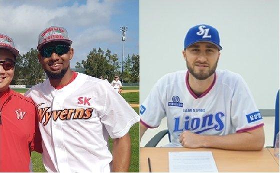 새롭게 KBO 리그를 밟은 외국인 투수 가운데 가장 많은 금액을 받는 SK 앙헬 산체스(왼쪽)과 삼성 팀 아델만. /사진=SK, 삼성 제공