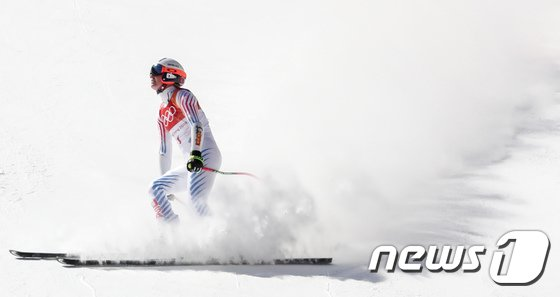 [사진]린지본 '결승선 향해'