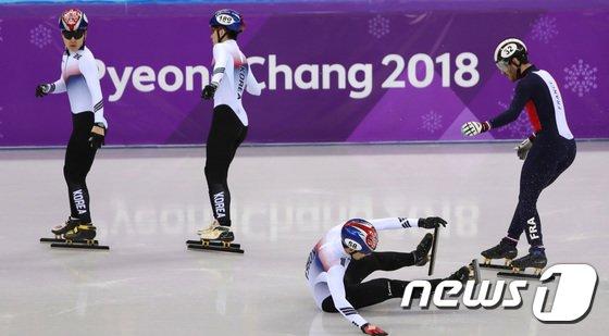 [사진]한조에 대한민국 선수 3명 '안타까운 경기'