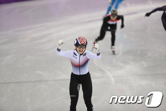 [사진]'새로운 퀸' 최민정, 1500m 金! 500m 아쉬움 풀었다