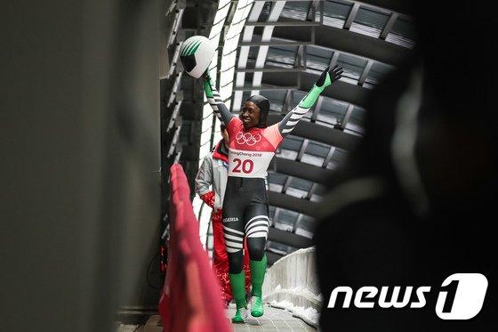 [사진]아프리카 스켈레톤 나이지리아 시미델레 아데아그보 '평창 쿨러닝'