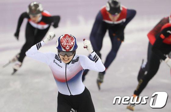 [사진]최민정 '1500m 결승 짜랏한 우승'