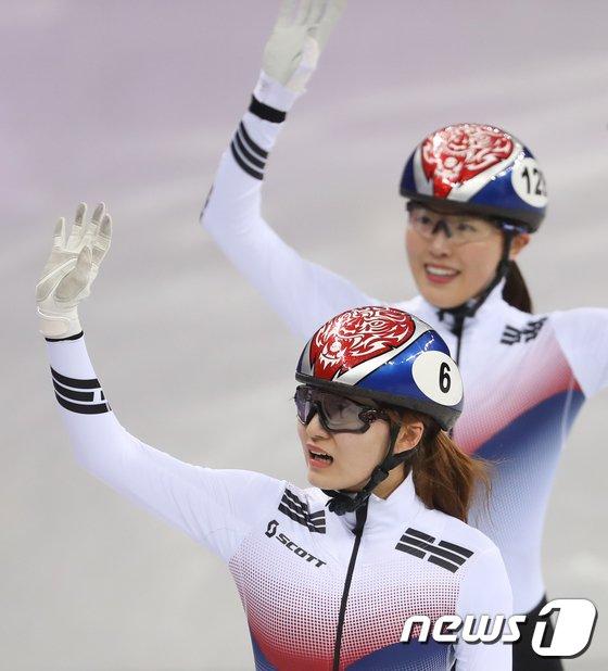 [사진]최민정 '김아랑과 함께'