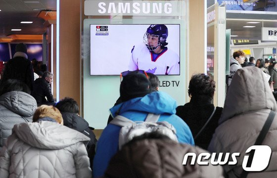 [사진]귀경길에도 평창올림픽 중계방송