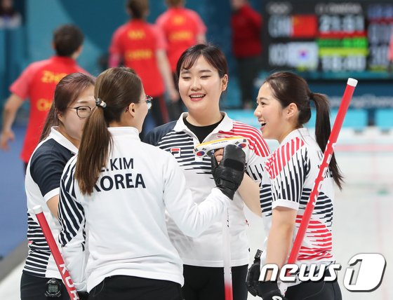 [사진]한국 여자 컬링 '승승장구'