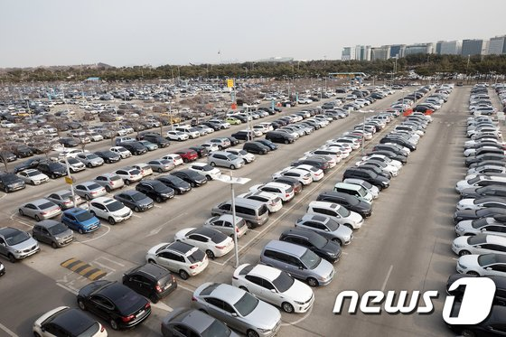 [사진]'인천공항 주차장은 만원'