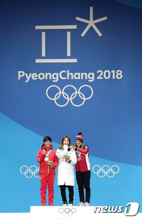 [사진]최민정 '대한민국 세번재 금메달의 주인공'