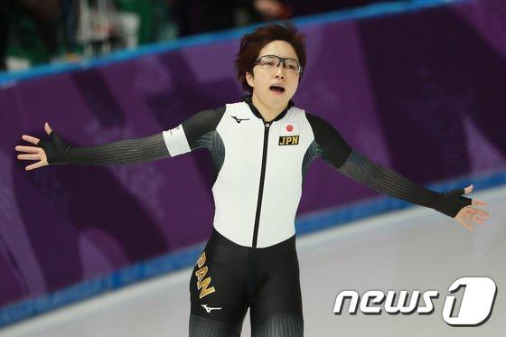 [사진]고다리아 나오, 스피드 여자 500m 올림픽 신기록으로 금메달