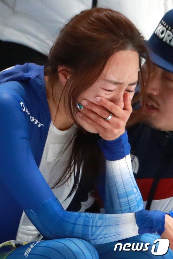 [사진]빙속여제 이상화의 '눈물'