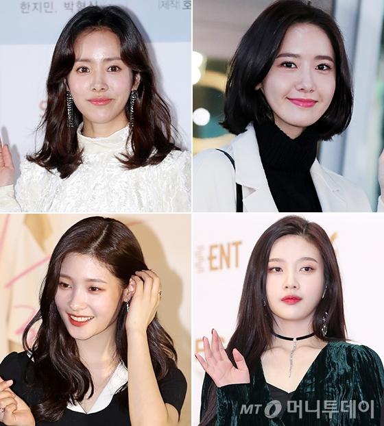 배우 한지민, 소녀시대 윤아, 레드벨벳 조이, 다이아 정채연(시계방향)/사진=머니투데이 DB