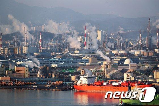 울산석유화학공단(기사내용과 직접 관련은 없음) © News1 이윤기 기자