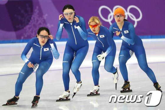 [사진]대한민국 女 팀추월 '다시 달리자'