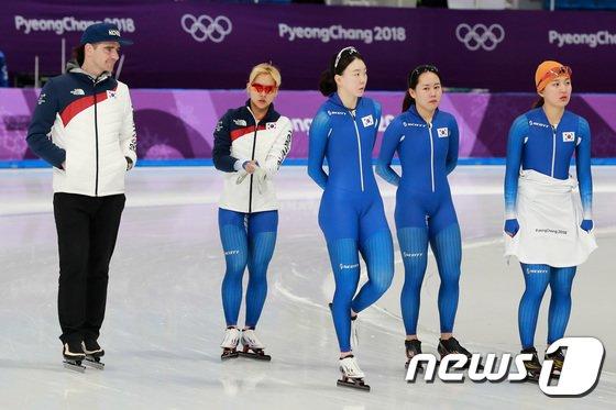 [사진]대한민국 女 팀추월 '오늘 작전은?'
