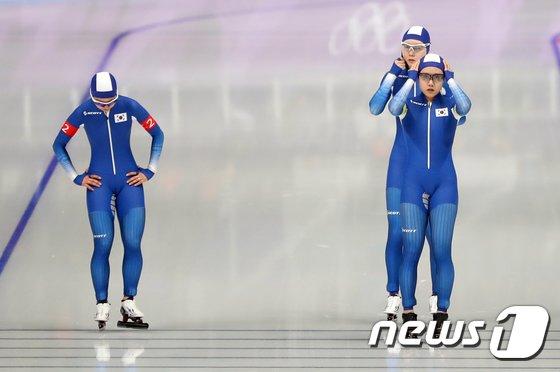 [사진]여자 팀추월 '팀워크 보여줄까?'