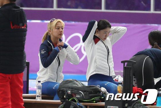 [사진]경기 준비하는 김보름-노선영