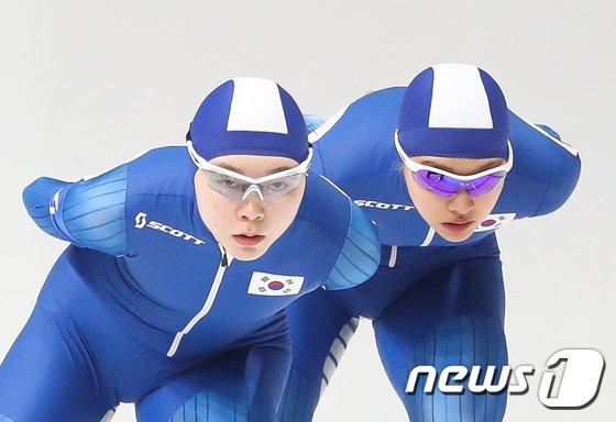 [사진]'노선영과 김보름'