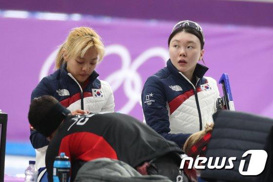 [사진]대화없는 김보름-노선영
