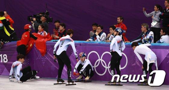 [사진]결과가 너무 아쉬운 남자 쇼트트랙 대표팀
