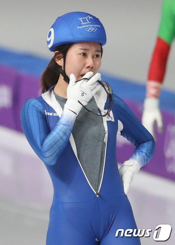 [사진]박지우 '아쉬운 예선 탈락'