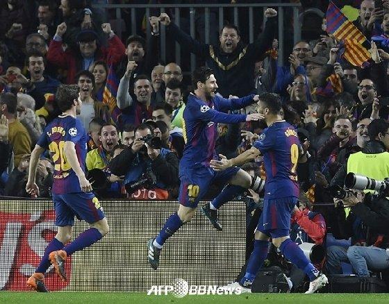 바르셀로나가 첼시를 꺾고 8강에 진출했다./AFPBBNews=뉴스1<br />