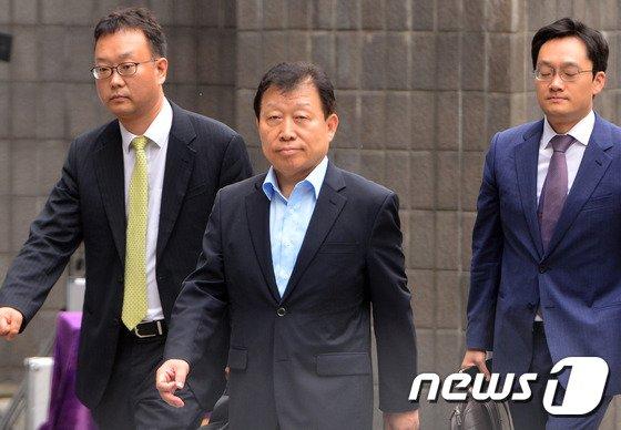 '5조원대 회계사기'를 저지른 혐의를 받고 있는 고재호 전 대우조선해양 사장./뉴스1 © News1 구윤성 기자