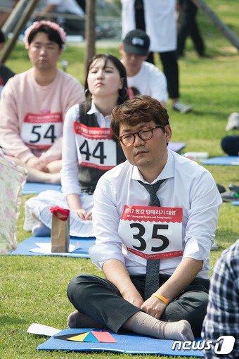 지난해 서울 한강공원 망원지구에서 열린 한강 멍때리기 대회./뉴스1 © News1 유승관 기자