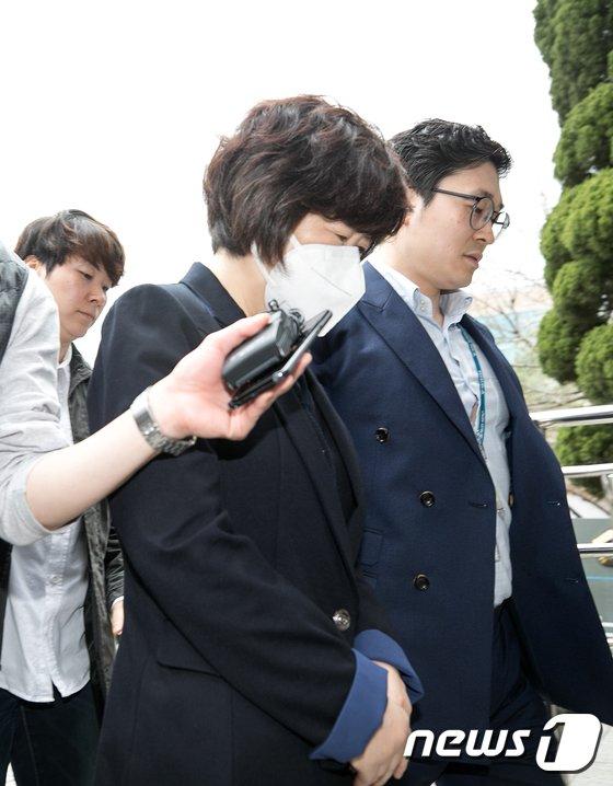 [사진]이대목동병원 박은애 교수 영장실질심사 출석