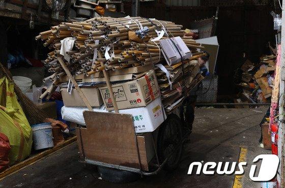 [사진]폐지 가격 30% 급락 '불편한 진실'