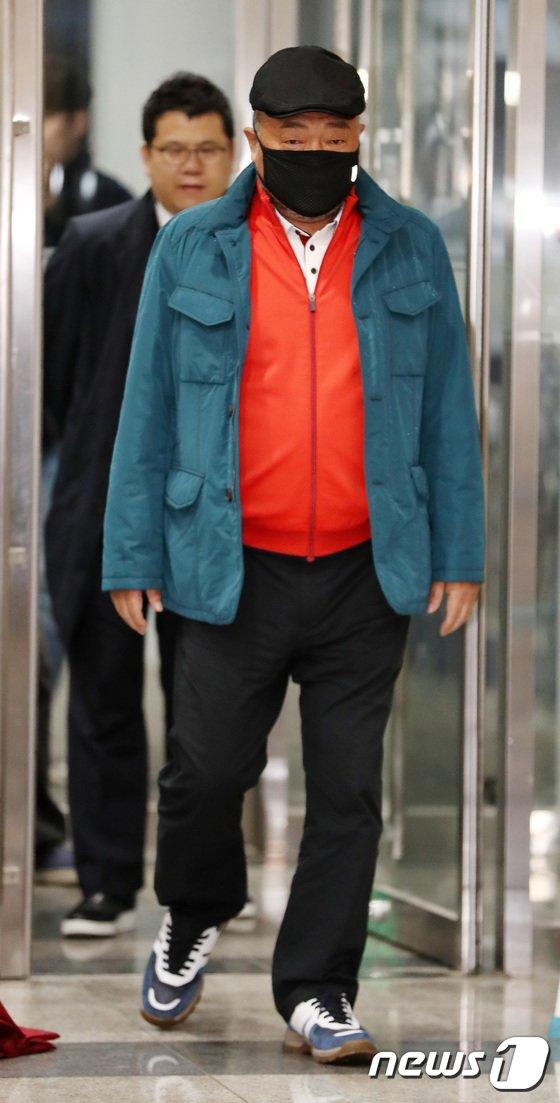 [사진]'성폭행 혐의' 김흥국, 경찰 출석