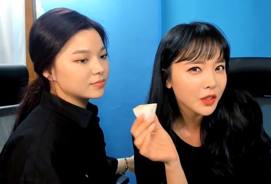 정윤선 메이크업 아티스트와 가수 홍진영/사진=홍진영 유튜브 채널