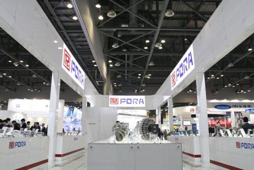 '2018 KOREA PACK'에 참여한 보라전기공업 부스 모습/사진제공=보라전기공업