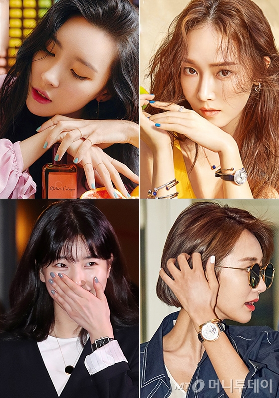 시계 방향으로 가수 선미, 제시카, 배우 고준희, 가수 겸 배우 수지/사진=더블유 코리아, 머니투데이 DB