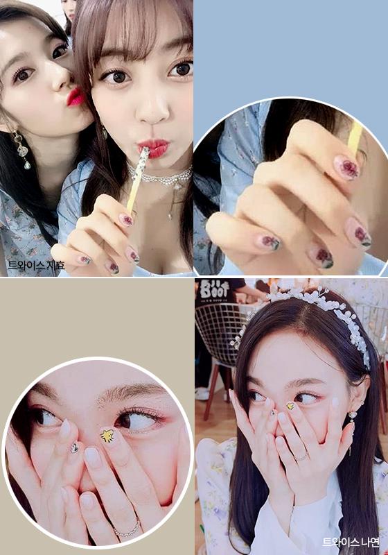 트와이스 사나와 지효, 나연/사진=트와이스 공식 인스타그램