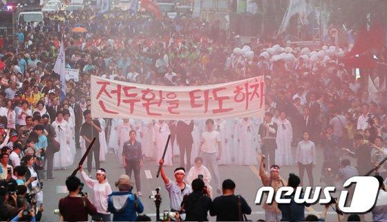 [사진]38년 지나 재현되는 '광주의 그 날'