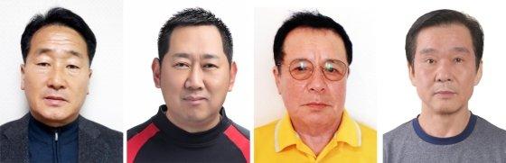지난해 12월 21일 충북 제천시 스포츠센터 화재현장에서 필사적으로 인명을 구한 이양섭(53·왼쪽부터), 이호영(43), 이상화(71)씨, 김종수(64) 씨와 이재혁(16)군, 이기현(29) 씨 등 6명은 'LG 의인상'을 받았다./사진=LG그룹