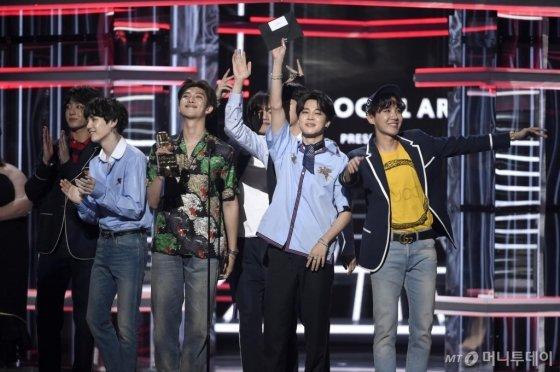 【서울=뉴시스】 방탄소년단. 2018.05.21. (사진 = AP 제공)