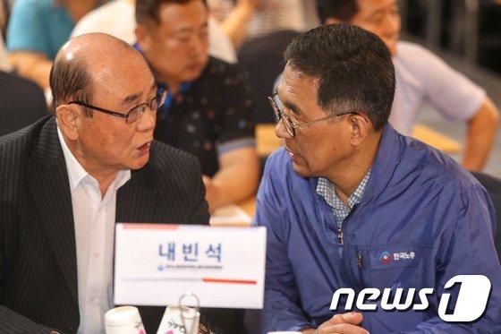 [사진]한국노총 제조연대 확대출범식 참석한 김주영 위원장