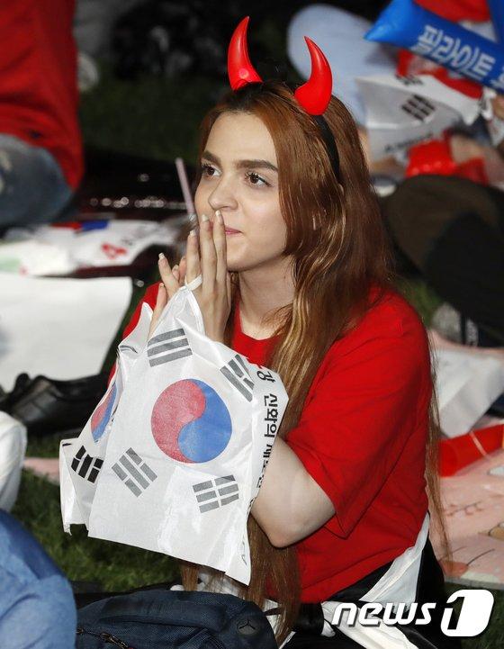 [사진]외국인 붉은 악마도 승리 기원