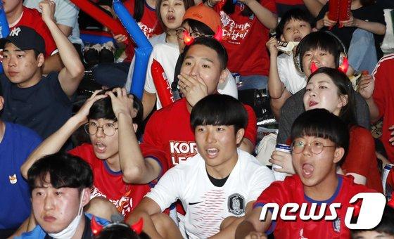 [사진]대한민국 스웨덴 상대로 첫 패