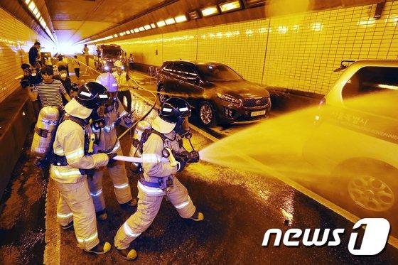 [사진]'터널에서 사고가 난다면?'